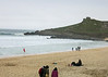 The next day the weather changed somewhat so Colin, Elaine, Bindu and Jeanne went to St Ives.   This is Porthmeor beach in front of the Tate Gallery.