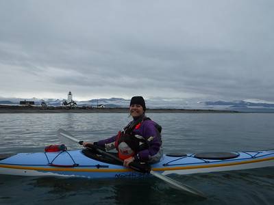 My name is Helene Scalliet and I have a kayaking problem.  The trip leader was kind enough to lend me a sea kayak for the paddle, even without having met me in person.  The sea kayaking community is as wonderful as the whitewater community in that respect.