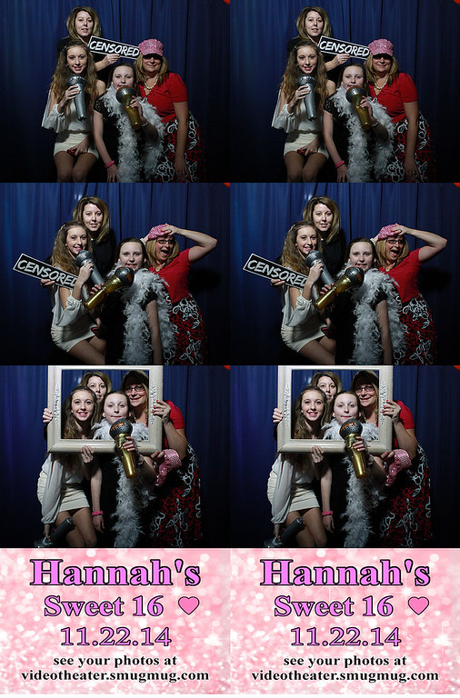 2014.11.22 Hannah's Sweet Sixteen Photobooth