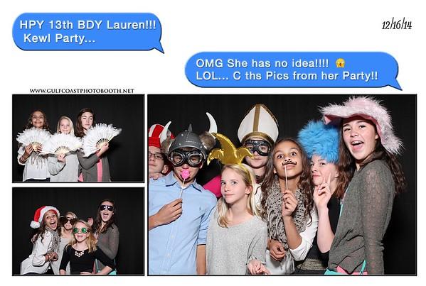 Lauren Bonner 13th Birthday Photobooth