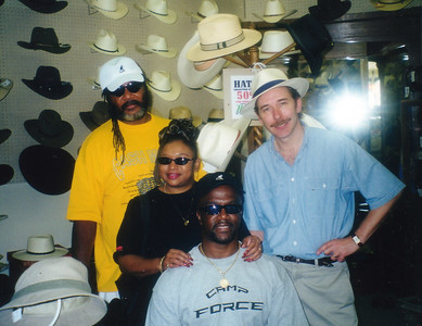 Big Bill, Teddy and the Hat Man in Oklahoma City 2002.
