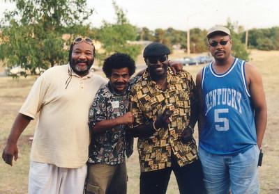 Big Bill, Gary G, Al and Al. Grove Park, Wichita Ks  Aug 11, 2001.