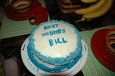 Thanks Sandra for the Big Bill's very last cake.  This party would not make Big Bill happy without a birthday cake.