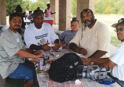 Wichita cuz family reunion. Darnell playing Big Bill in some bones. Grove Park, Wichita Ks  Aug 11, 2001.