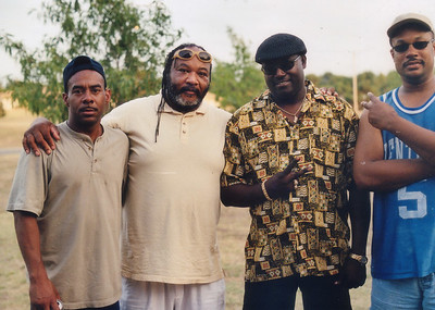 Dirk, Big Bill, Al and Al. Grove Park, Wichita Ks  Aug 11, 2001.