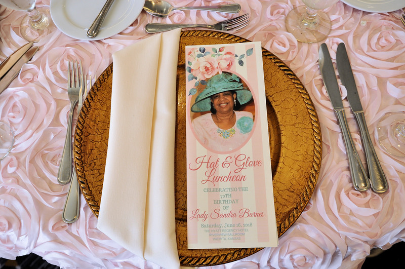 Hats Gloves Luncheon 70th Birthday Lady Sandra Barnes June 16