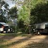 Left: L & T's camper, R: J & D's camper