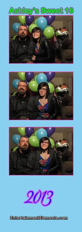 Ashley's Sweet 16 Photo Strips