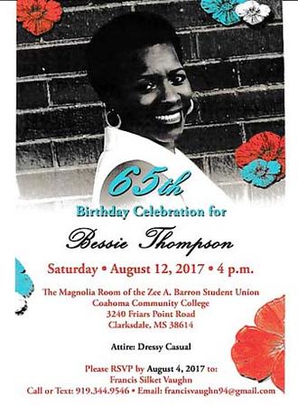 Bessie's 65th Birthday