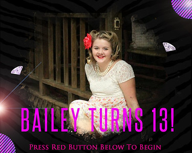 Bailey's 13th Birthday Party at North Fork Baptist Church 4/5/14
