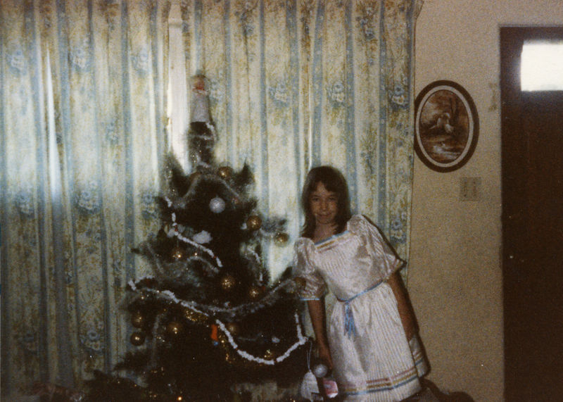 1983 12 25 - Michele at Christmas