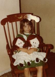1982 12 25 - Young Michele Fagan at Christmas 1