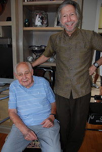 Carole's dad, Alfred Nathan, and a Leiberman side cousin, Larry Frank.