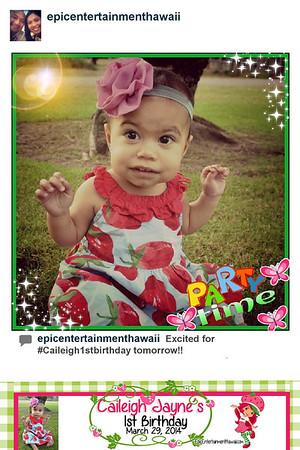 Caileigh's 1st Birthday - Instagram Photobooth