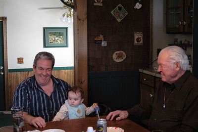 4 generations of Dugans. The 4th is behind the camera.