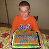 Ian matches his cake