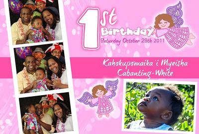 Kahokupomaikai'i Cabanting-White's 1st Birthday