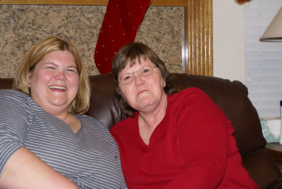 Karen on her birthday with Tia
