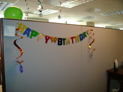 My cube all decorated.