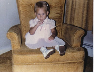 Me, almost two, at Grandmom Bennett's house.