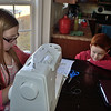 Aidan moves in with fascination for Grace's new sewing machine