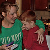 Mommy receives a birthday gift from her son Aidan