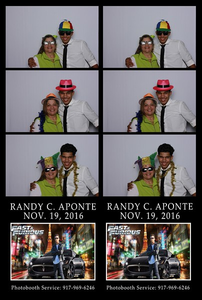 Randy C. Aponte -  Photo Booth Pics