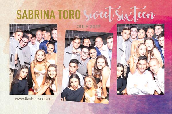 Sabrina's Sweet 16 - 30 July 2017