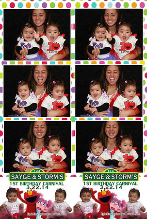 Sayge and Storm's 1st Birthday