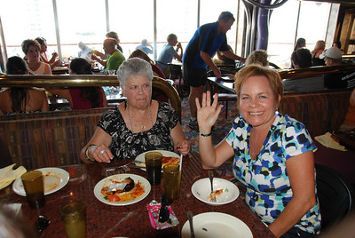 Mary and Susan enjoyed the lunch buffet....