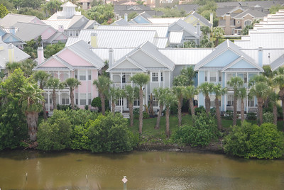 Houses along the waterfront.