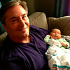 Papa with Edison Faye - comfy @ Home