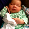 Love the position of her right hand.  9 pounds, 10 ounces of Dainty.