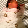 Megan took this picture of Edison sleeping in her own bed on her 1st night home from the Hospital.