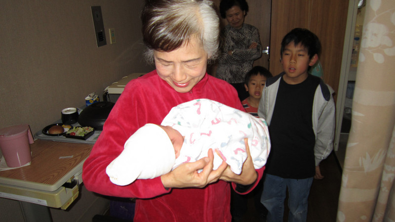 March 16, 2011 - Visit from Ama (grandma in Chinese) and Frank's family