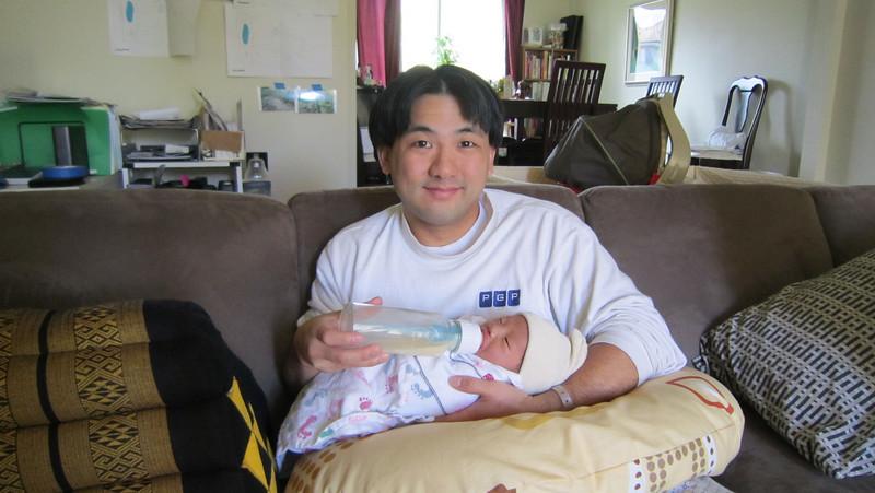 March 21, 2011 - Daddy's first feeding!