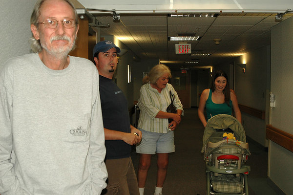 Outside the OR Theater before they called in Zac and I.<br /> Grampa Thurm, Uncle Kris, Gramma Kay, Aunt Mandy & Cousin Aubrey!