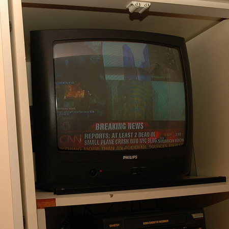 The news on TV