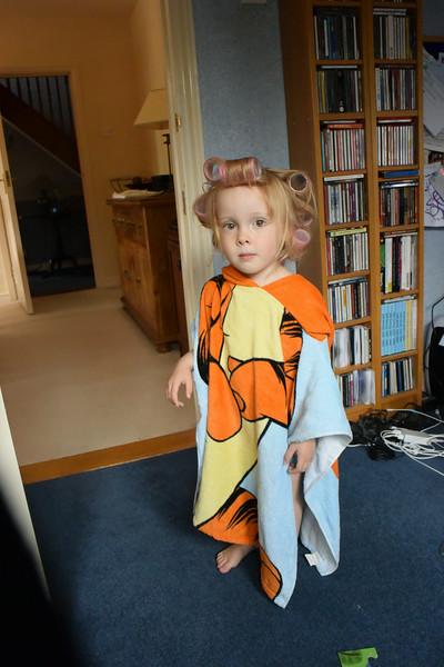 Jaimie Tigger towel Aug 2014 001