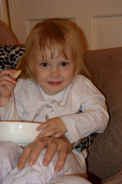 Jaimie with poppadoms July 2014 007