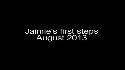 Jaimies first steps Aug 2013