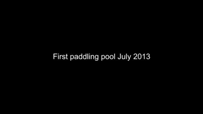 Jaimie first paddling pool July 2013