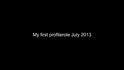 Jaimie My first profiterole July 2013
