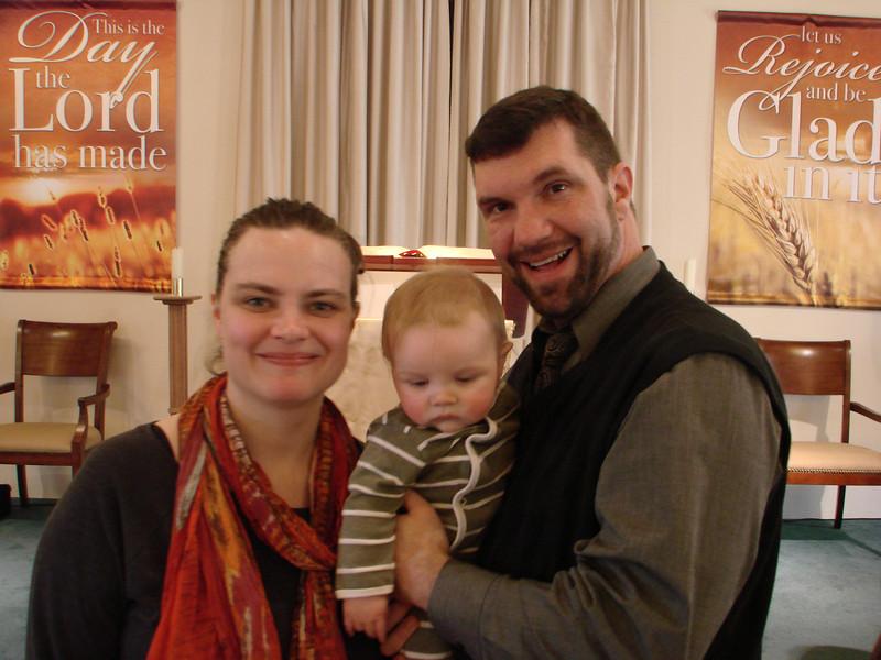 Dedication and Christening of Henry Brinson Newsome
