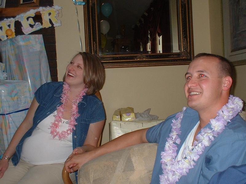 Chris & Chelsea watching the hula performance.