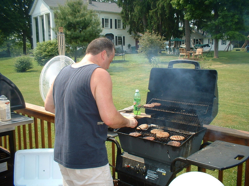 It was HOT, but the grillers were dedicated and cooked, cooked, COOKED!!