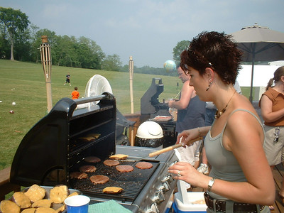 The grilling brigade in full force!