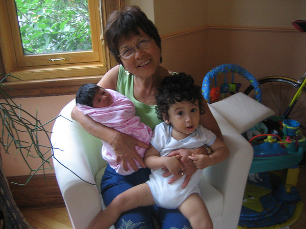 Proud grandma with Cyane and Jaden