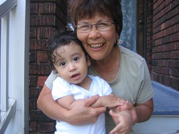 Grandma and Jaden just after a bath