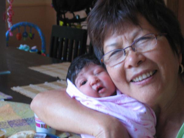 Grandma giving Cyane the big squeeze